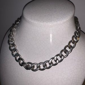 Silver plated chain necklace